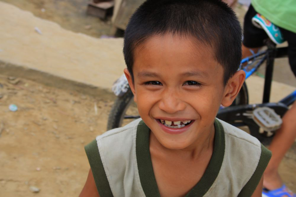 lachend kind vietnam