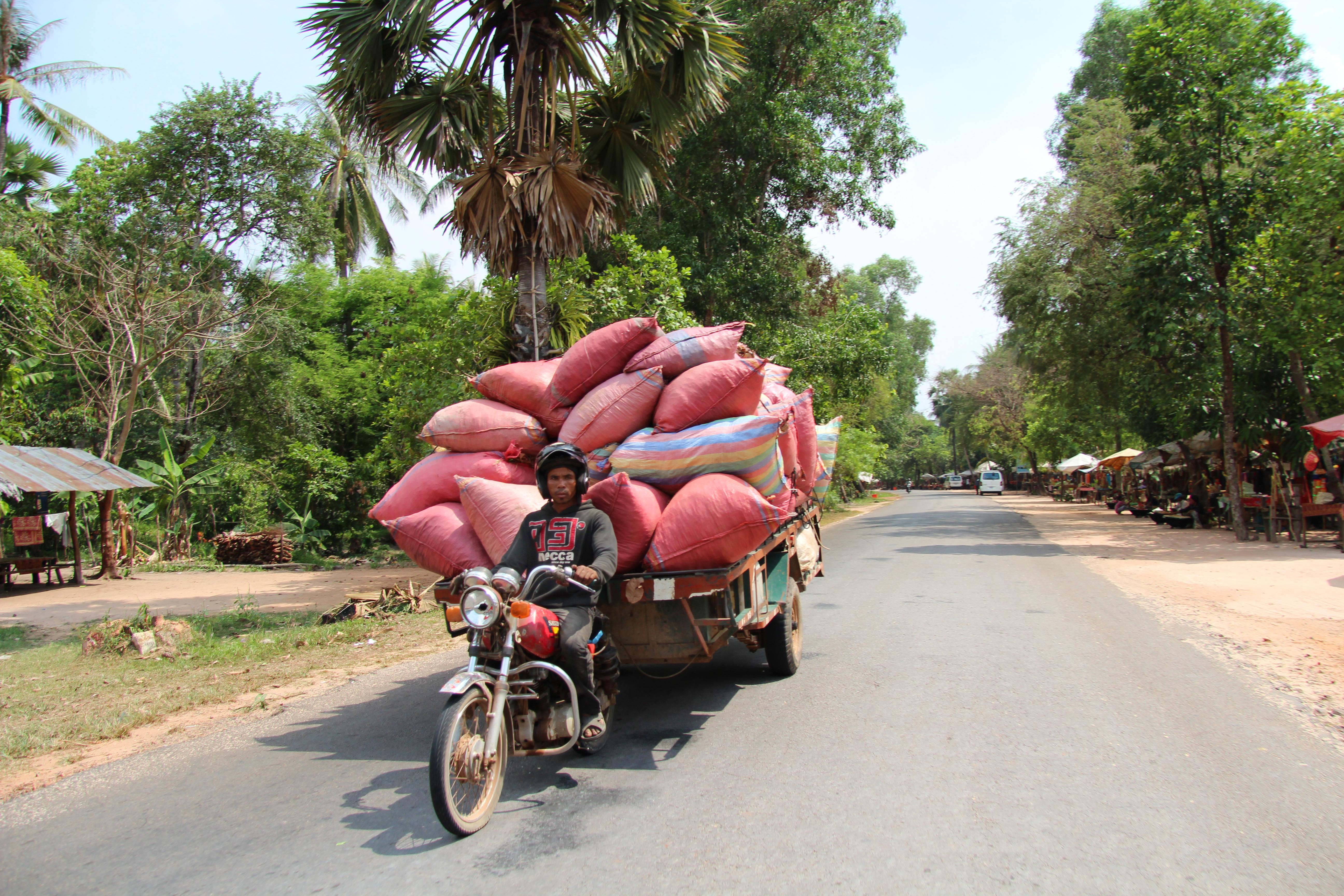 Op pad in Cambodja