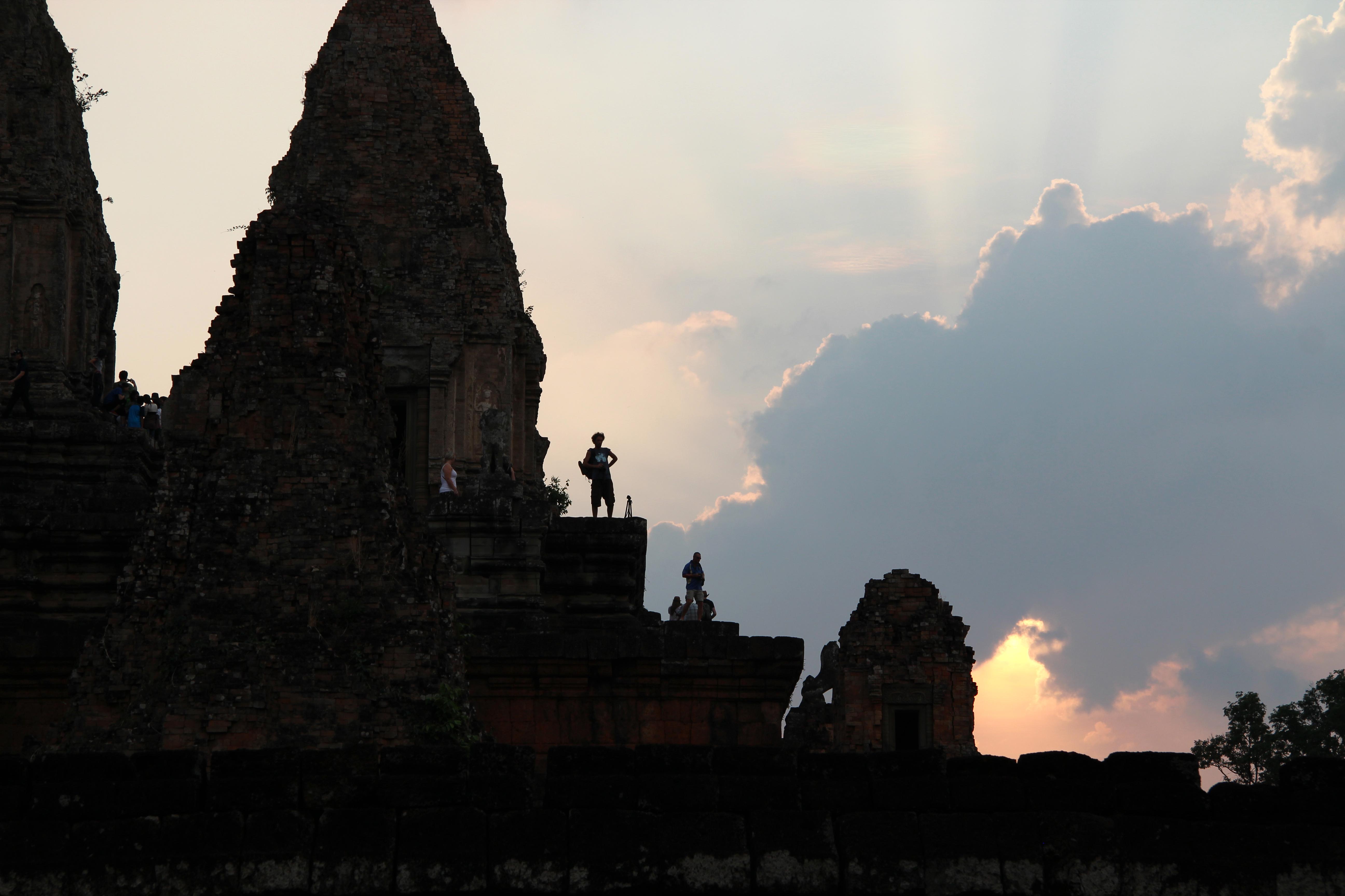 Zonsondergang in Ankor Wat